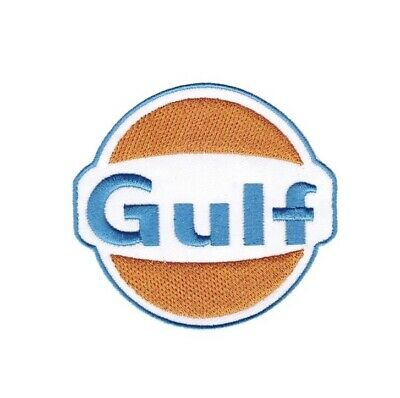 Patch Ecusson Brode Gulf 8 Cm Thermocollant