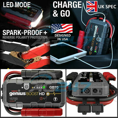 12v NOCO Genius GB70 Boost HD 2000A Lithium Car Battery Jump Starter Power Pack