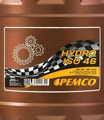 PEMCO ISO 46 Hydraulic Fluid Oil 20L Drum ASLE 70-1, 70-2, 70-3 DIN 51524 part 2