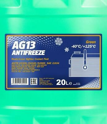 AG13 -40 READY FOR USE GREEN ANTIFREEZE COOLANT German Hi Spec