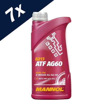 7L ATF AG 60 TRANSMISSION OIL FOR 8-6-5 SPEED AUTOMATIC BMW Lifeguard 8