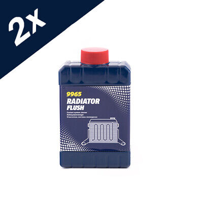 9965 MANNOL 2x 325ml RADIATOR FLUSH CLEANS UNBLOCKS CAR RAD COOLING SYSTEM