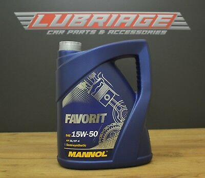 5L Semi-synthetic engine oil Favorit 15W-50 API SL/CF-4
