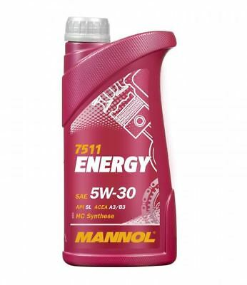 Mannol ENERGY 1 Litre 5w30 ZETEC Fully Synthetic Engine Oil SL/CF ACEA A3/B3
