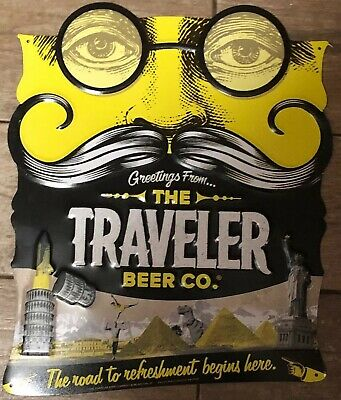 THE TRAVELER BEER Co. ~Snapback Mesh Trucker Hat~Mustache~American ... b5b6a81fb55a