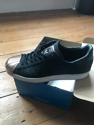 5ab6a790d19 Adidas Originals Superstar trainers - black with rose gold toe cap - size  5.5