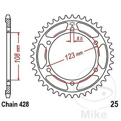 JT Rear Sprocket 60T 428P JTR25.60 Steel