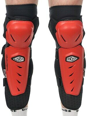 Troy Lee Designs Red Lopes Pair of MX Knee and Shin Guard