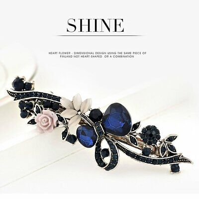 Classic Bow Gemstone Hairpin Side Clip Hair Accessories Hairpin For Wo N♡