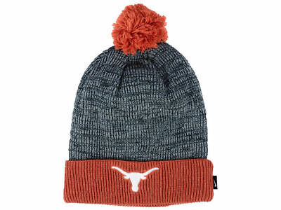 on sale 3609f 03a8e NIKE Texas Longhorns Cuffed Knit Hat Beanie Cap Removable Pom Adult NEW