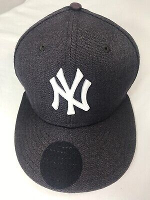 7c7b6c3fae5 New Era New York Yankees Fitted Hat Cap Subway World Series Side Patch MLB  2000