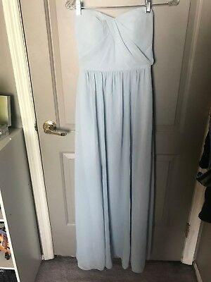 db45a4a0eb9 Nordstrom Social Bridesmaids Women s Blue Mist Strapless Gown Size 2 NEW