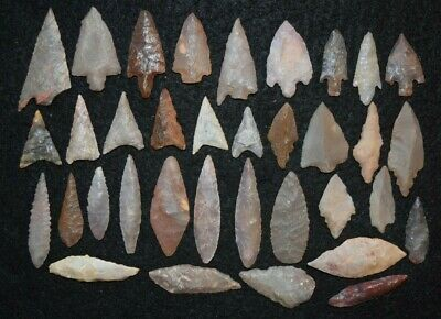 35 common diverse Sahara Neolithic points/tools