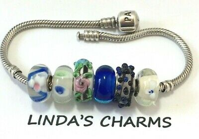 Green Pink Black European Style Murano Glass Bead Charms Fit Charm Bracelet