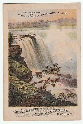 NICE Advertising Trade Card Great Western Michigan Central RR Niagara Falls 1880