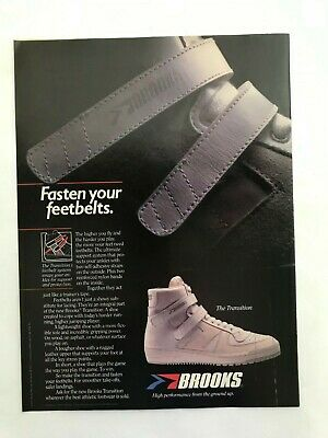 c097e263d6d BROOKS THE TRANSITION Shoes Vintage 1983 Print Ad -  7.95