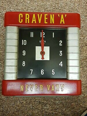 Craven A Never Vary Smiths Sectric Bakerlite Clock Retro