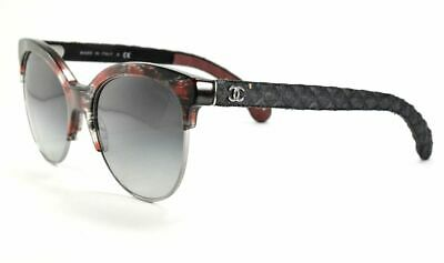 9cac362c67 CHANEL Sunglasses 5342 1551 S6 Red and Black Denim Frame W  Grey Gradient  Lens
