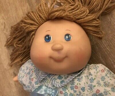 Cabbage Patch Kids Baby Kid Doll Dress Strawberry Blonde Hair Blue Eyes
