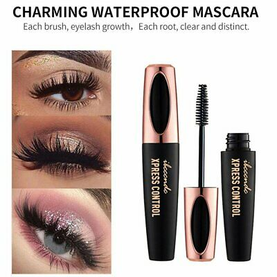 4D Silk Fiber Lash Mascara Waterproof Black Thick Lengthening Eyelash Masc Kヤ