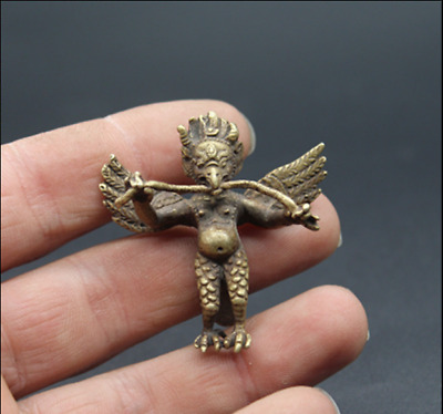 Exquisite Chinese  Pure copper  Humanoid Hawk  Key chain  Pendant  Collection