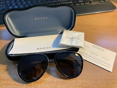21bdbca674514 NEW GUCCI AUTHENTIC Aviator Sunglasses GG 0062S Ruthenium Green 002 with  Case -  178.86