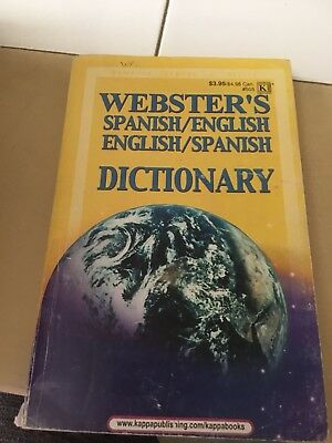 Websters Spanish / English And English / Spanish Dictionary