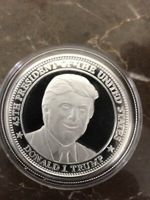 1-Oz .999 Silver Donald Trump 45Th President Freedom Coin