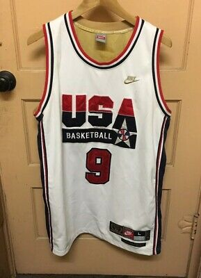 pretty nice c2bb0 c562d *RARE* NIKE USA Olympic Dream Team Michael Jordan Jersey Og Colorway Large  MJ
