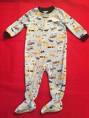 e5bedc19ab Carter s 18 M Months Toddler Baby Boy s Dogs One Piece Fleece Footed Pajamas