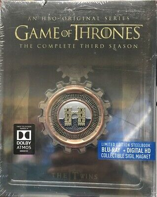 Game of Thrones the Complete Third Season [ STEELBOOK Edition ] (Blu-ray) NEW