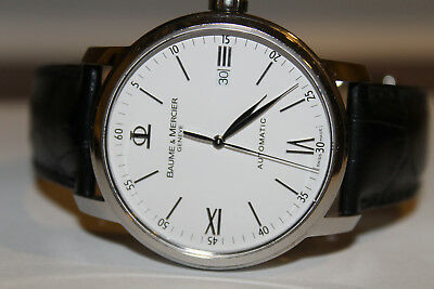 8aefbab38b1 BAUME MERCIER CLASSIMA Executive Leather Automatic Watch 65534 - EUR ...