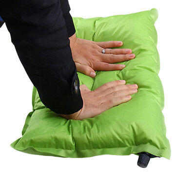 Automatic Inflatable Air Cushion Pillow Portable Outdoor Travel Camping#CVX