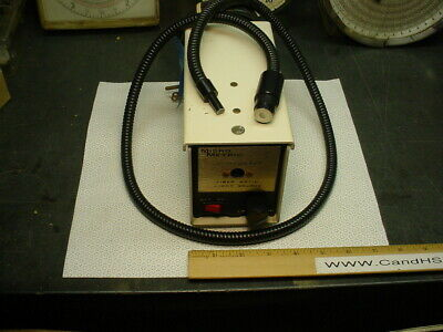Micro Metric fiber optic light source with Fostec bundle