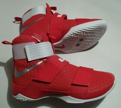 cheap for discount d2f88 4ae4c NEW NIKE LEBRON James Soldier X 10 TB Men's Size 12.5 Shoes Red 856489-663