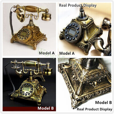 Home Office Decoration Retro Vintage Antique Landline Cord Telephone  Phone Set