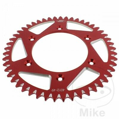JMP Red Aluminium Rear Sprocket (49 Teeth) Honda CRF 250 R 2012