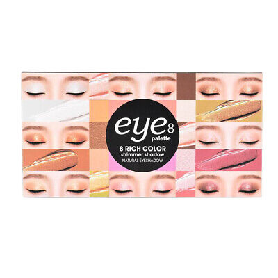 Waterproof Nude Warm Natural Makeup Eyeshadow 8 Colors Shimmer Eye Shadow