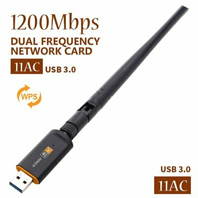 1200Mbps Dual Band WiFi USB Adapter with Aerial USB3.0 802.11AC Network C PQ