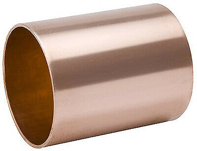 B&K LLC 1-1/4 Inch Wrot Copper Coupling With Stop W610148