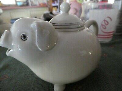 Vintage Fitz And Floyd Pig Two Cup Teapot