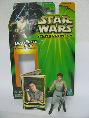 Star Wars POTJ Power Jedi Leia Organa Endor Loose Complete + card