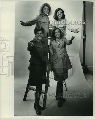 "1968 Press Photo Four members of the ""Up With People!"" group - mjp35105"