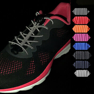 Shoeslaces Elastic Tie-free Running Sneakers Shoe Laces Solid color Brand New
