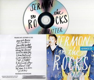 JOSH RITTER Sermon On The Rocks 2015 UK 12-track promo test CD
