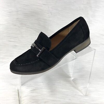 23fb96f7bbb FRANCO SARTO WOMENS  Blanchette  Black Slip On Suede Loafers Sz 6 M ...