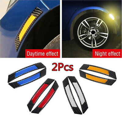Decoration Warning Carbon Fiber Car Reflective Sticker Wheel Eyebrow Edge Guard