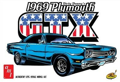 Amt AMT1065 Dirty Donny 1969 Plymouth GTX 1/25 Scale Car Plastic Model Kit