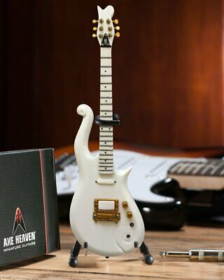 Axe Heaven Prince White Cloud Mini Guitar Replica Collectible