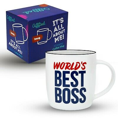 Best Boss Gift Coffee Mug Birthday Day Present Christmas Office Male Female